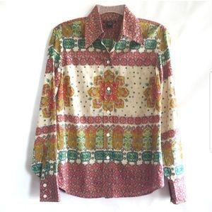 Lucky Brand Mandala button down shirt boho